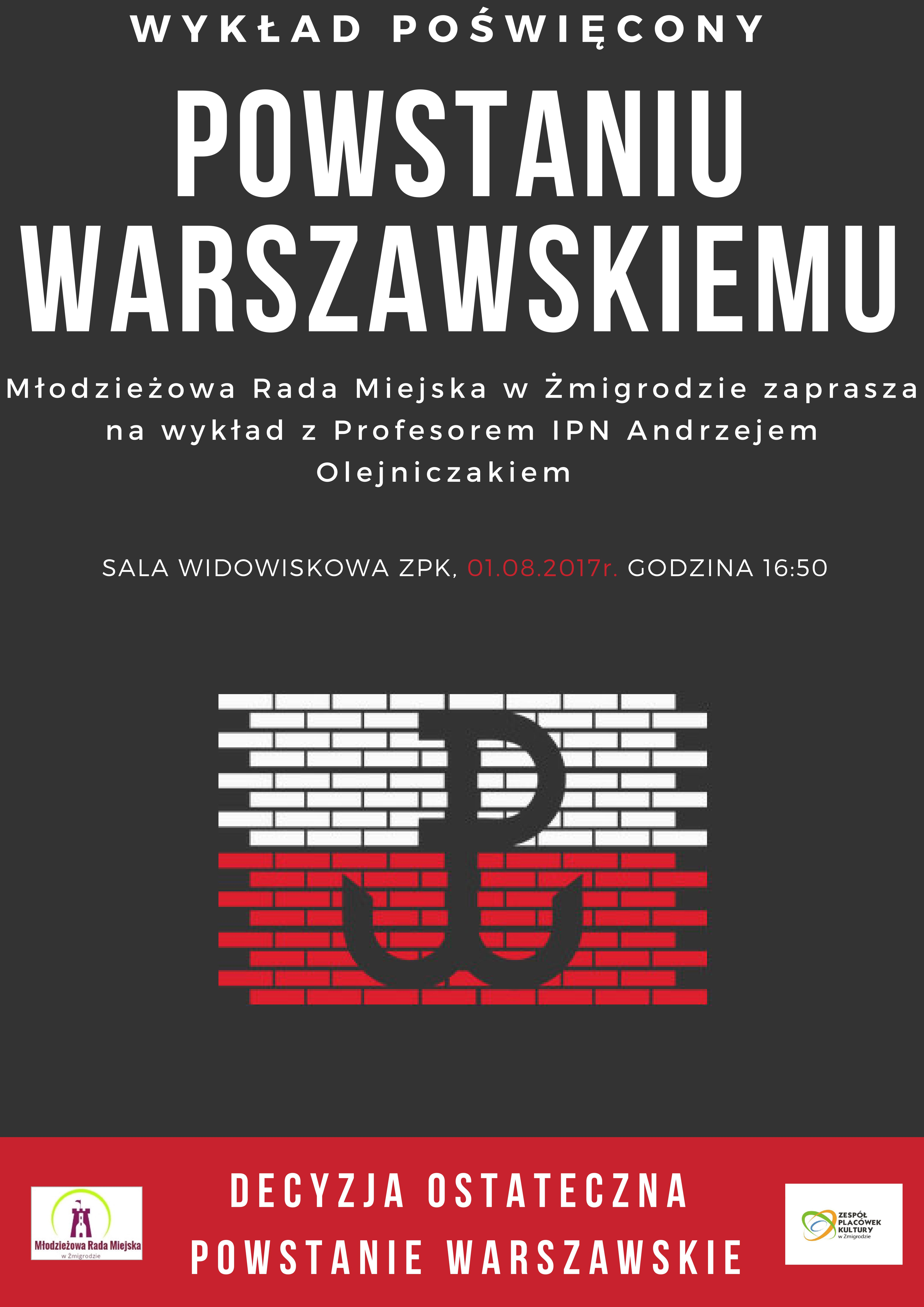 Wykład poświęcony Powstaniu Warszawskiemu